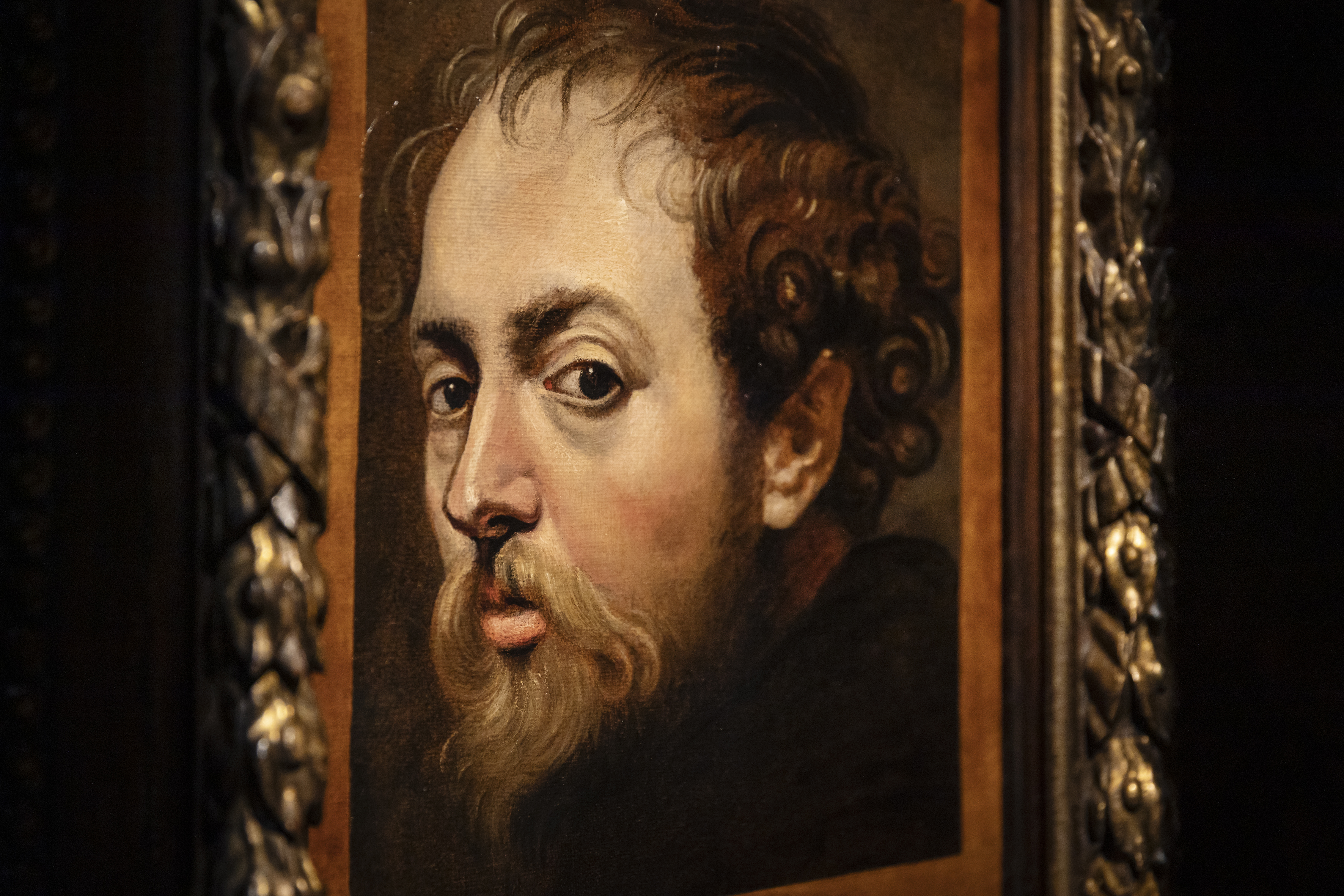 Rubens, Zelfportret detail, ca. 1604, in langdurig bruikleen Rubenshuis, particuliere verzameling, Foto Ans Brys