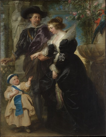 Rubens, His Wife Helena Fourment (1614–1673), and Their Son Frans (1633–1678), ca. 1635, Peter Paul Rubens (Collection: Metropolitan Museum of Art)