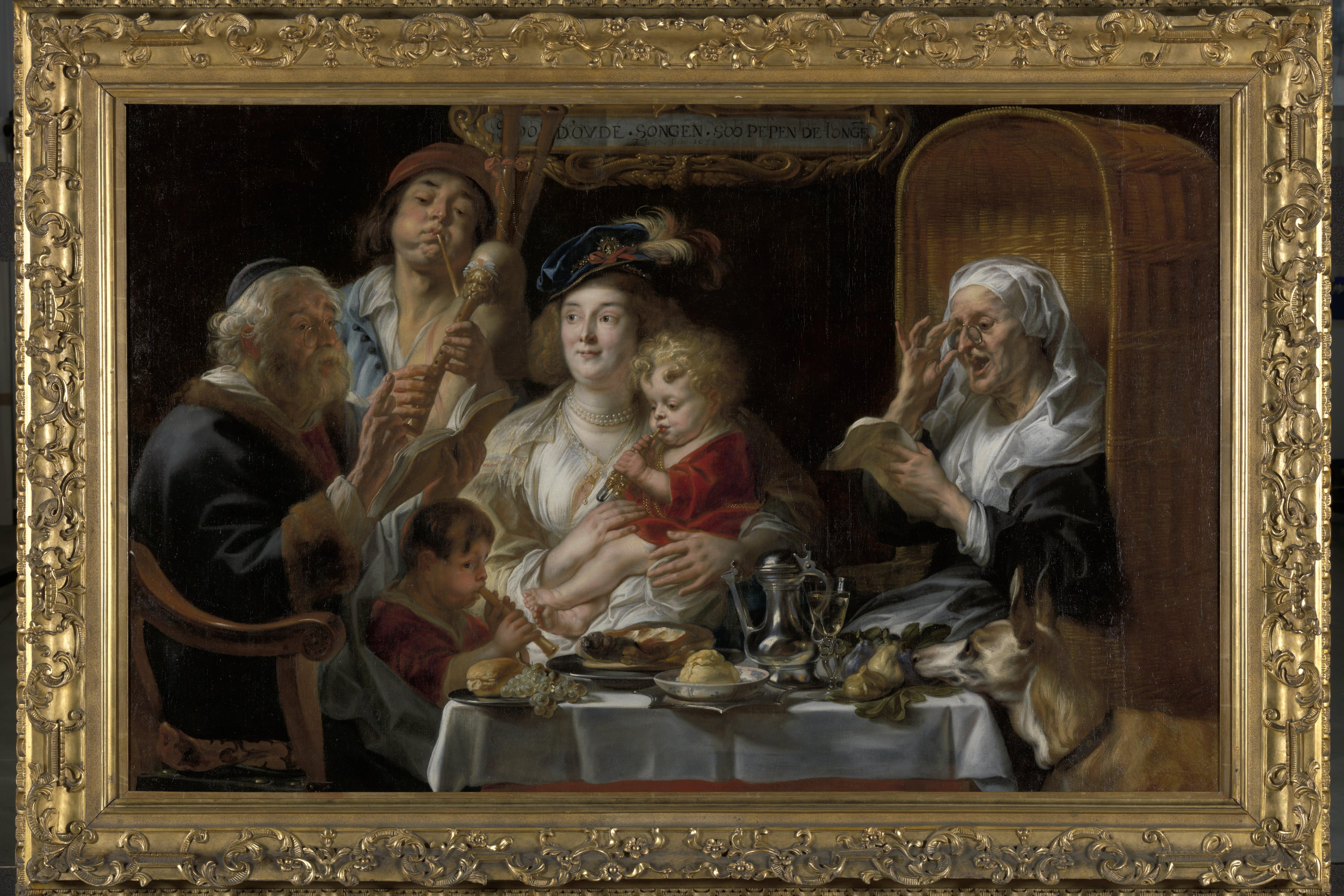 Jacob Jordaens I, The old Folks sing, the young Folks chirp, Royal Museum of Fine Arts, Antwerp