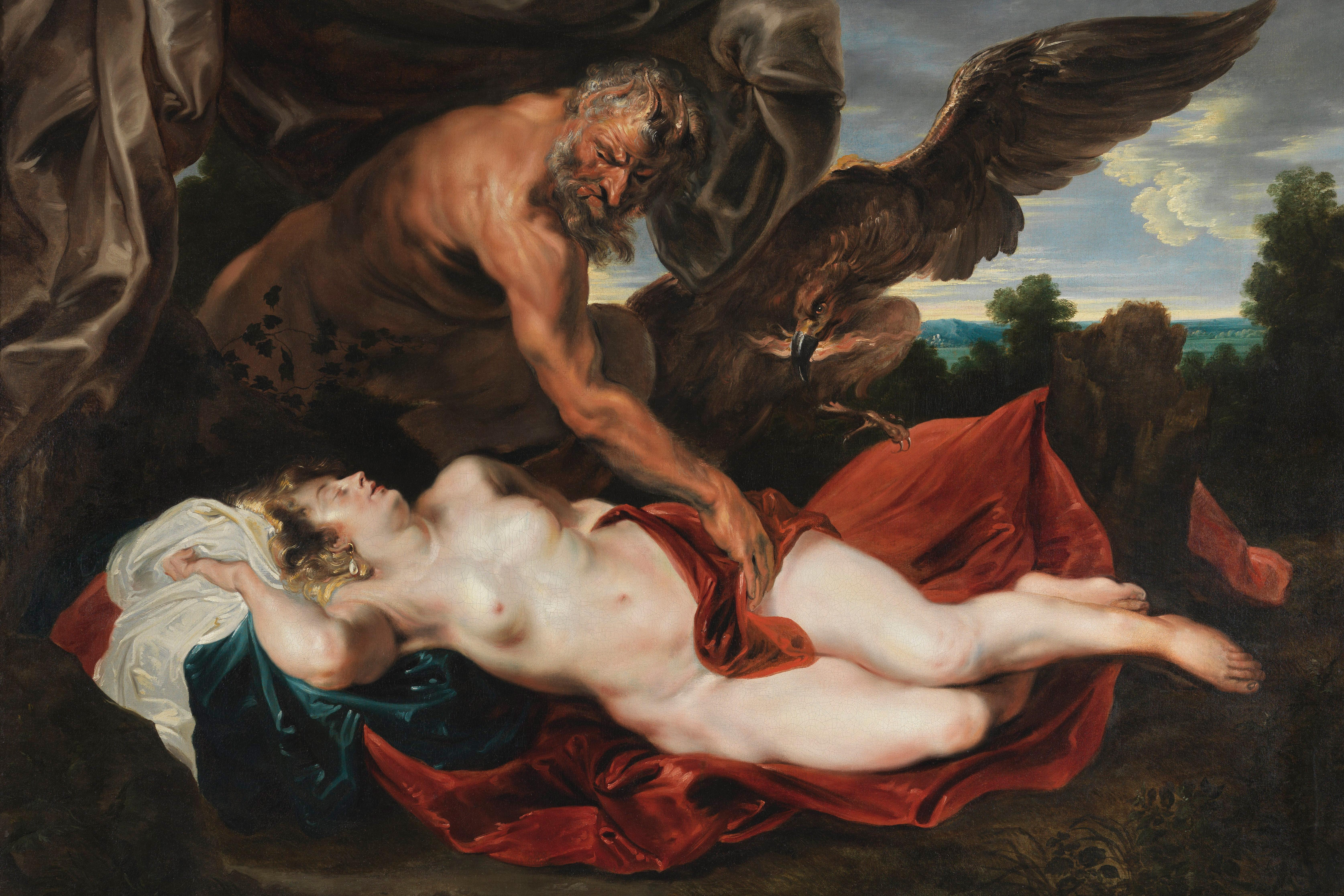 Anthony van Dyck, Jupiter and Antiope, Museum of Fine Arts, Ghent.