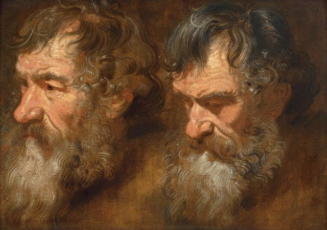 Two studies of a Man's Head