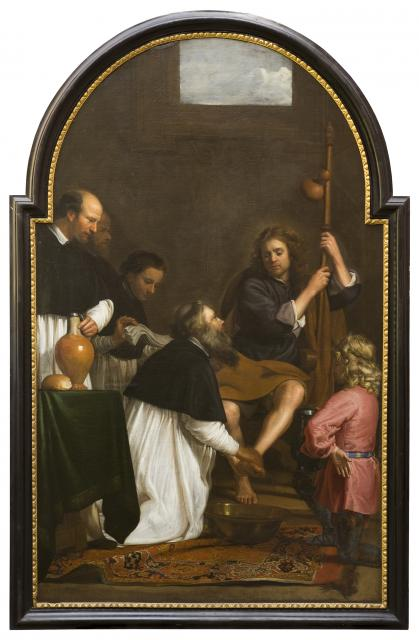 Saint Augustine washing the Feet of Christ