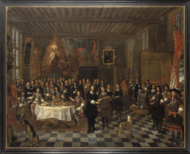 The Reception of Charles II and his Brothers in the Guild of Saint Barbara in Bruges