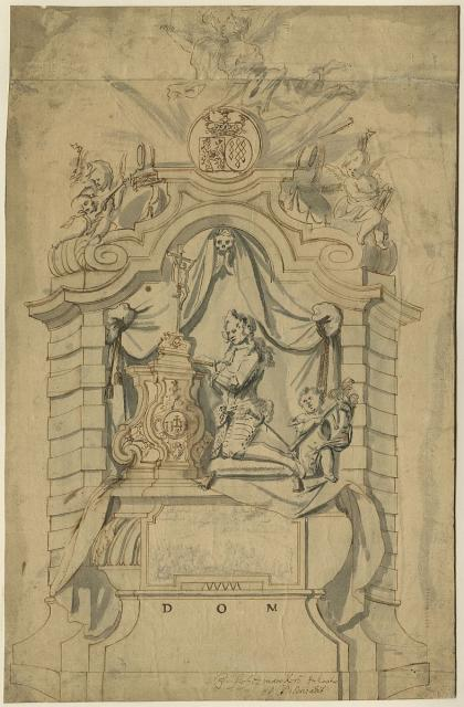 Design for the tomb of Charles Florentine of Salm-Salm, Count of the Rhine