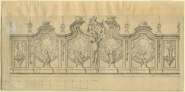 Design for the gateway to the chapel of the Four Crowned Saints in the Cathedral of Our Lady