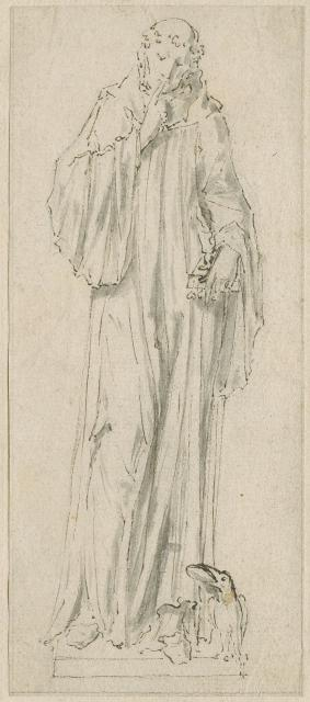 Design for a statue of St Benedict