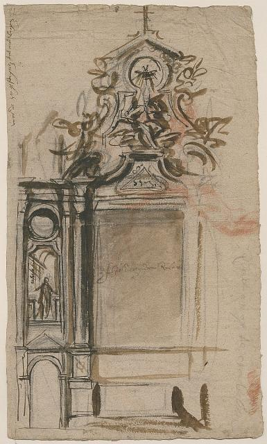 Design for the high altar in St Augustine's Church in Antwerp