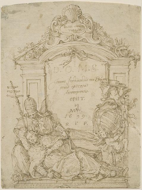 Design for a grave monument to Bishop van Beughem