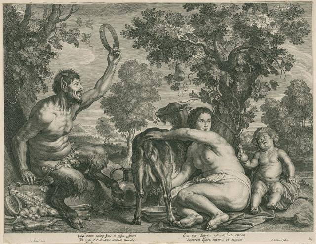 Jupiter fed by the goat Almathea