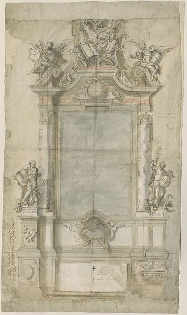 Design for an altar in honour of St Ignatius