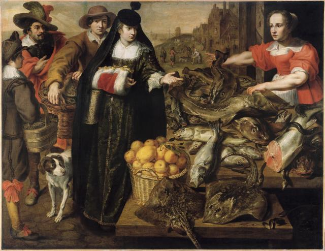 A Lady at the Fish Market in Antwerp