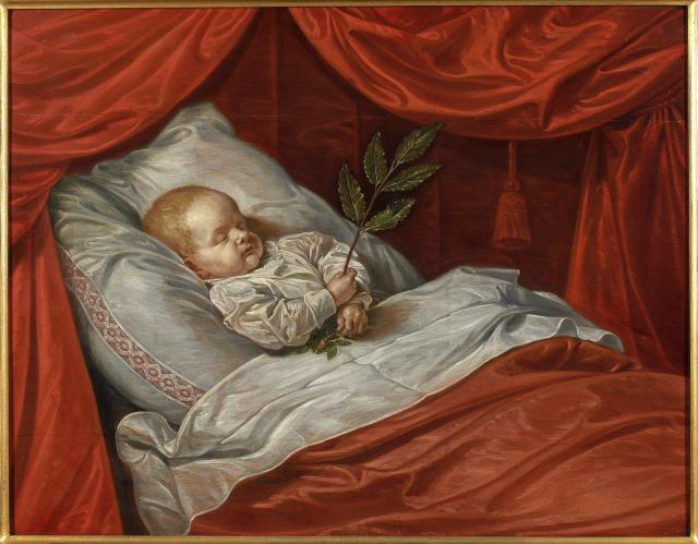 Young boy on his deathbed