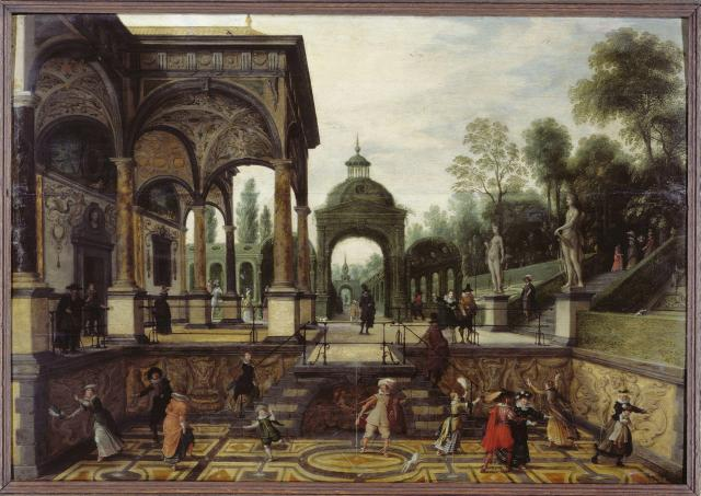 Italian Garden with personages
