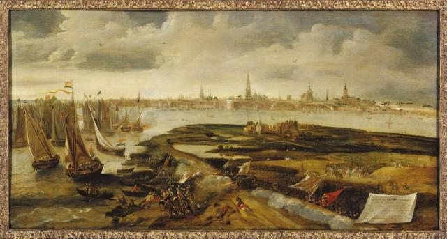 The battle at the Blokkersdijk 1605