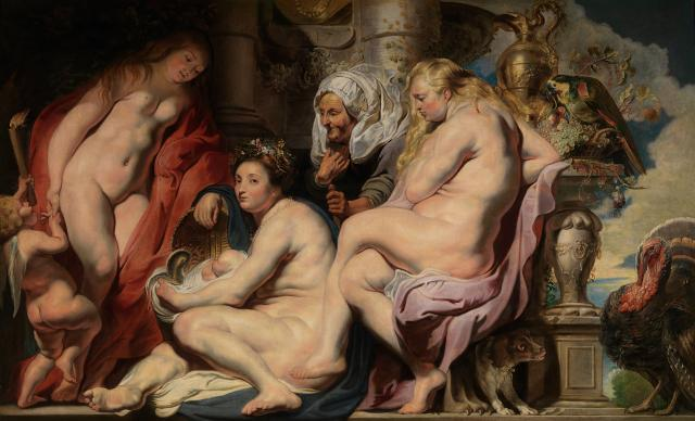 The Daughters of Cecrops Finding the Child Erichthonius