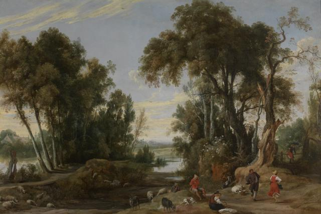 Landscape with dancing Shepherds