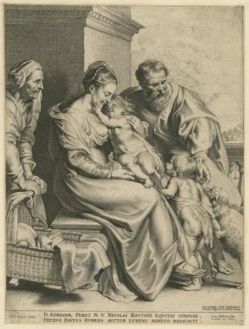 The Holy Family with St Elizabeth and the Infant John the Baptist