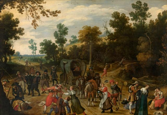 Landscape with Travellers Attacked by Robbers