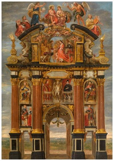 Triumphal Arch of Philip IV of Spain, front
