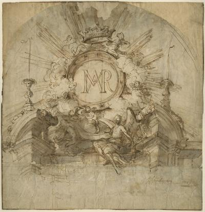 Design for the canopy of an altar to Our Lady