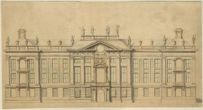 Design sketch for the façade of a town mansion
