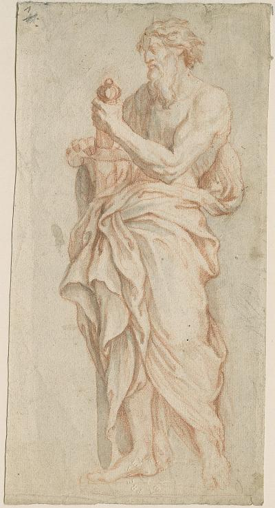 Design sketch for the statue of St Paul on the burial monument of Mr S. de Meurs