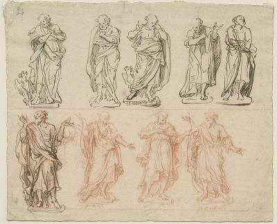 Design sketches for the holy apostles Peter and Paul