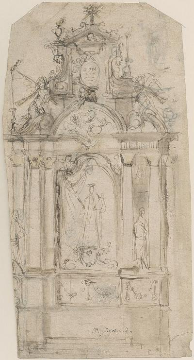 Design for an altar in honour of Our Lady