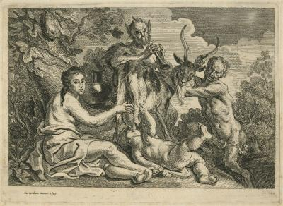 Jupiter nourished by the goat Amaltheia