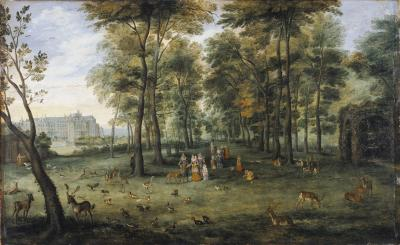 Archduke Albert and the Infanta Isabella in the garden of Coudenberg Palace, Brussels