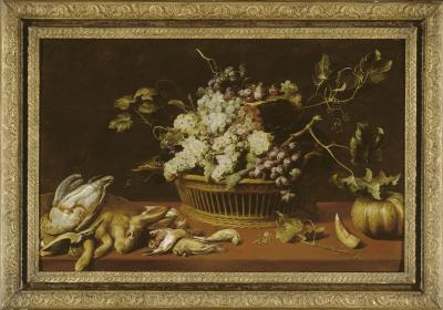 Still life with game and fruit