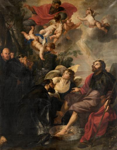 Saint Augustine Washes the Feet of Christ