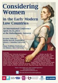 Symposium Considering Women in the early Modern Low Countries